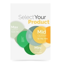 Business cover brochure design with select option vector