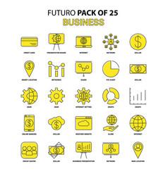 Business icon set yellow futuro latest design vector