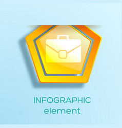 business infographic web element vector image