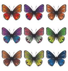 Butterflies Set2 vector