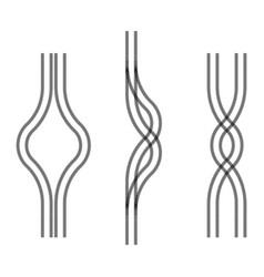 car tire tracks vector image