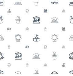 Circus icons pattern seamless white background vector