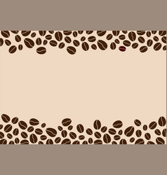 coffee beans background with blank space vector image