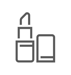 cosmetics and makeup flat line icon vector image