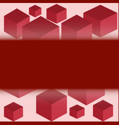 Cubes of red color vector