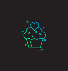 cup cake icon design vector image