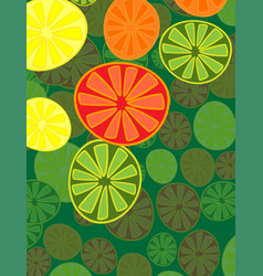 Cute background bright summer fruits fruit mix vector