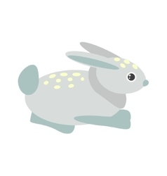 Cute blue bunny vector