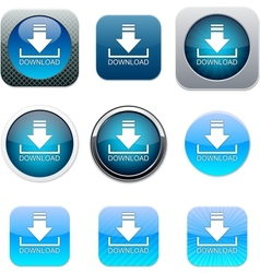 Download blue app icons vector