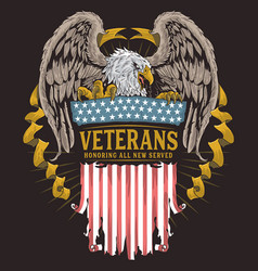 Eagle usa veterans vector