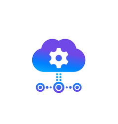 Edge computing technologies icon with cloud vector