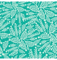 Emerald green plants seamless pattern background vector image
