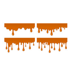 flow of melted sweet caramel vector image