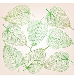 Fresh green leaves background vector