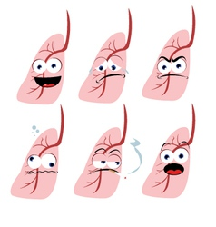 Funny Lung vector image