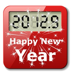 happy new year digital number icon vector image