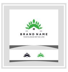 Home leaf logo design concept vector