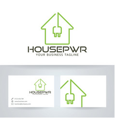 House power logo design vector