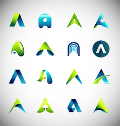 Icon design based on letter A vector image