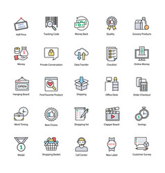 innovative shopping and commerce icons vector image