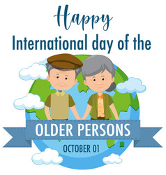 International day older persons 1st vector