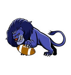 Lion Football Mascot vector