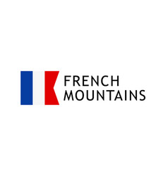 logotype template for tours to french alpine vector image