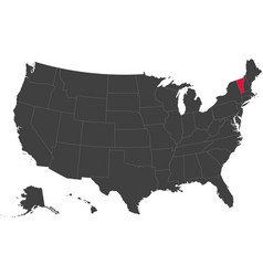 Map of usa - vermont vector