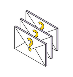 messages isometric icon vector image
