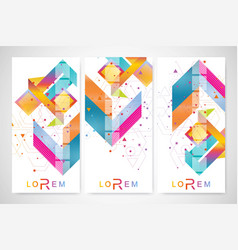 Modern set of flyers banners geometric vector