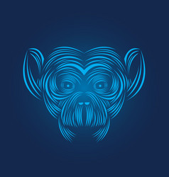 Monkey head icon line art vector