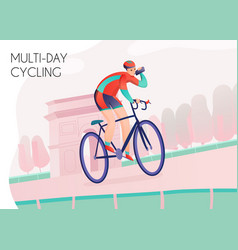 multi day cycling vector image