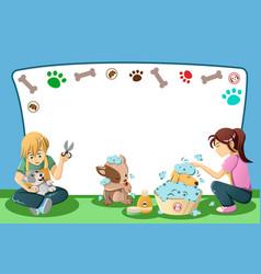 pets grooming advertisement vector image