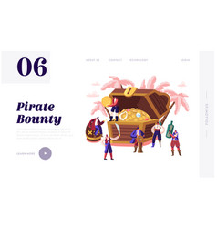pirates adventure fairy tale story website landing vector image