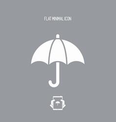 Protection button - minimal icon vector