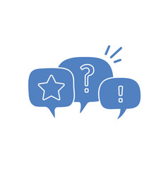question mark and exclamation mark in chat vector image
