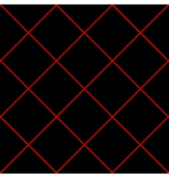 Red Grid Diamond Square Black Background vector