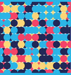 Retro seamless pattern with circles colorful vector