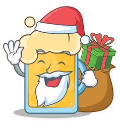 Santa beer character cartoon style vector