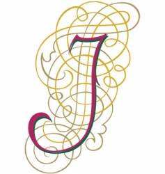 script letter j vector image