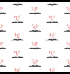 seamless pattern with open romance genre book and vector image