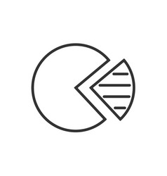 sectors graphic line icon on a white background vector image