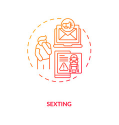 sexting culture concept icon vector image