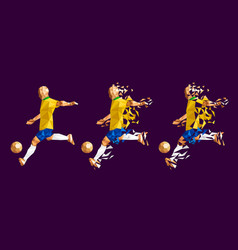 soccer football player low-poly vector image