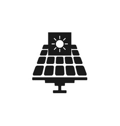 solar panels isolated icon solar panels icon for vector image