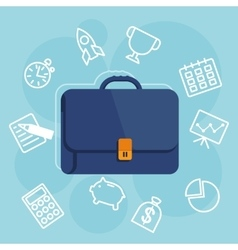 suitcases with items icon vector image
