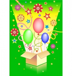 surprise in the box vector image