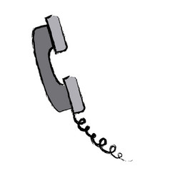 Telephone call service communication icon vector