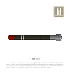 torpedo drawing on a white background vector image