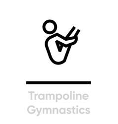 trampoline gymnastics sport icons vector image